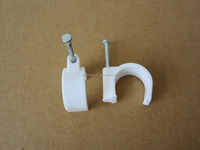 25mm concrete nail wire or pipe white color cable clips