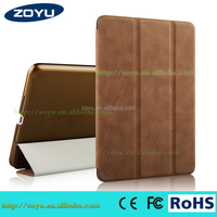 tablet pc case for ipad air 2 , custom design tablet cover and genuine leatherfor ipad air 2