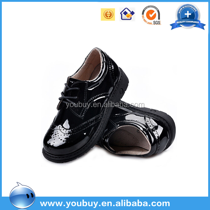 Boys Black Dress Shoes,Pure Leather School Shoes For Kids