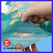 stand up polythene bag with zipper