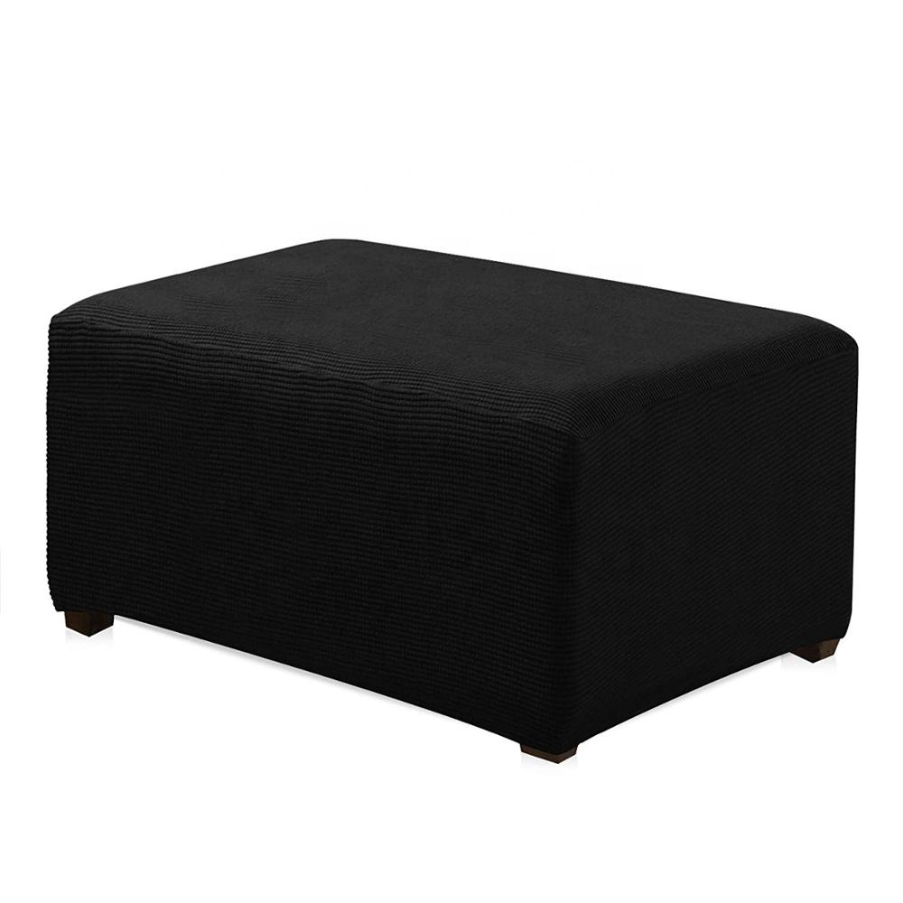 Storage ottoman /Jacquard Polyester Stretch Fabric cover a square Ottoman Slipcover for <strong>Living</strong> Room