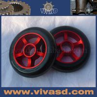 110mm pu wheels for adult kick scooter, metal core pu wheel, pro scooter wheel