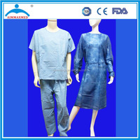 Sterile green Medical Isolation PP Gown S,M,L,XL,XXL