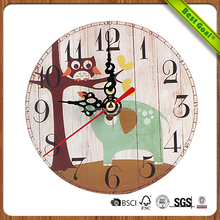 Colourful Country Tuscan Style Decorative Wall Wooden Clock