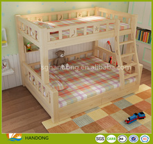 Fancy kids children toddler bunk beds twin over full with shelves