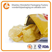 Plastic snack packaging bag potato chips snack