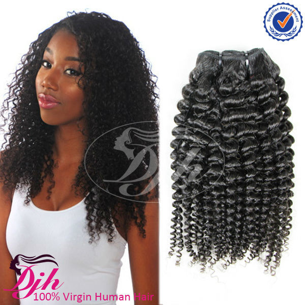 100% human hair 7a/8a grade remy virgin brazilian hair afro kinky curl hair weave for black women