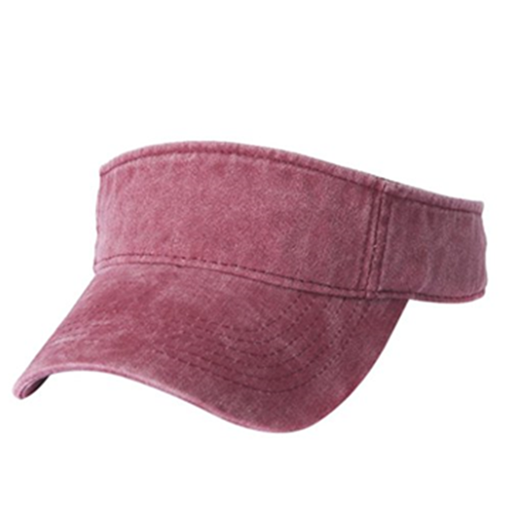 Cotton Summer Sun Visor Cap Fashion Pigment Dyed Sport Visor 1a2d998b698b