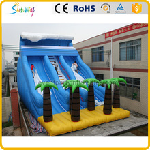 High Quality Coconut Tree Outdoor Water Slide Giant Inflatable Water Park Slides For Sale