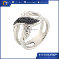 CCR1060 Unique design lady wedding gold plated round white sapphire ring