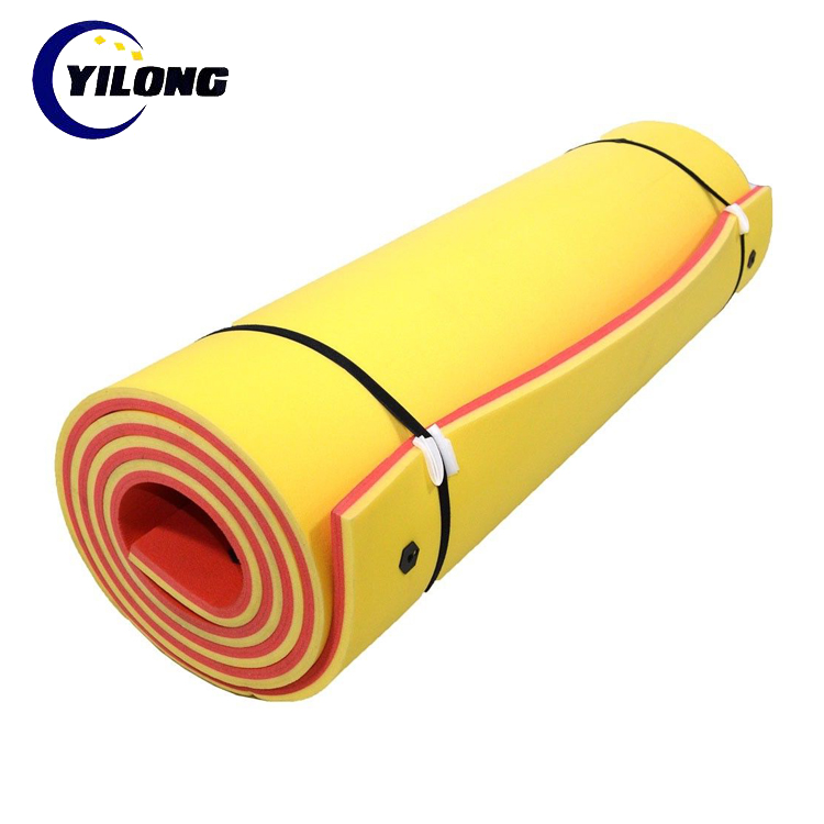 Easy roll up custom color and size DIY closed cell foam floating mat 16' x 6'for out door play