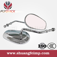 SF-103 FLYQUICK chrome black aftermarket replacement parts motorbike rearview aluminum motorcycle mirror harley