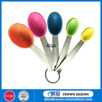 Different volume silicone measuring spoon