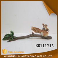 Miniature wedding decorationmini owl on a branch table decoration