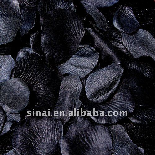 Wedding Flower Favors/Black Silk Rose Petals
