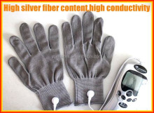 Silver fiber electric massage gloves