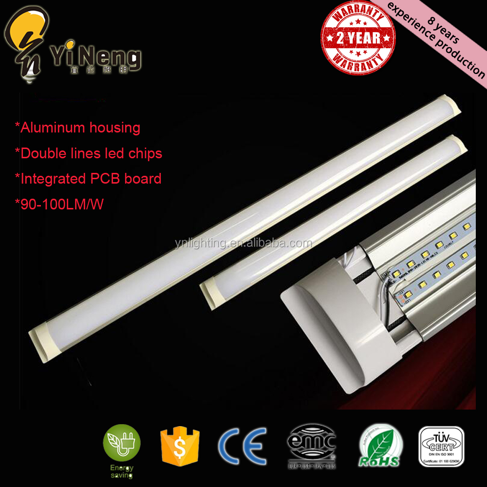 Tri proof Led linear light fixture 100LM/W Epistar SMD2835 2ft 3ft 4ft t8 18w led tube