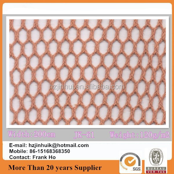 60% cotton 40% polyester fabric CVC netting mesh knitted fabric
