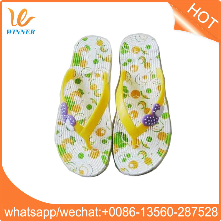 Wholesale cheap slipper natural rubber flip flop w494