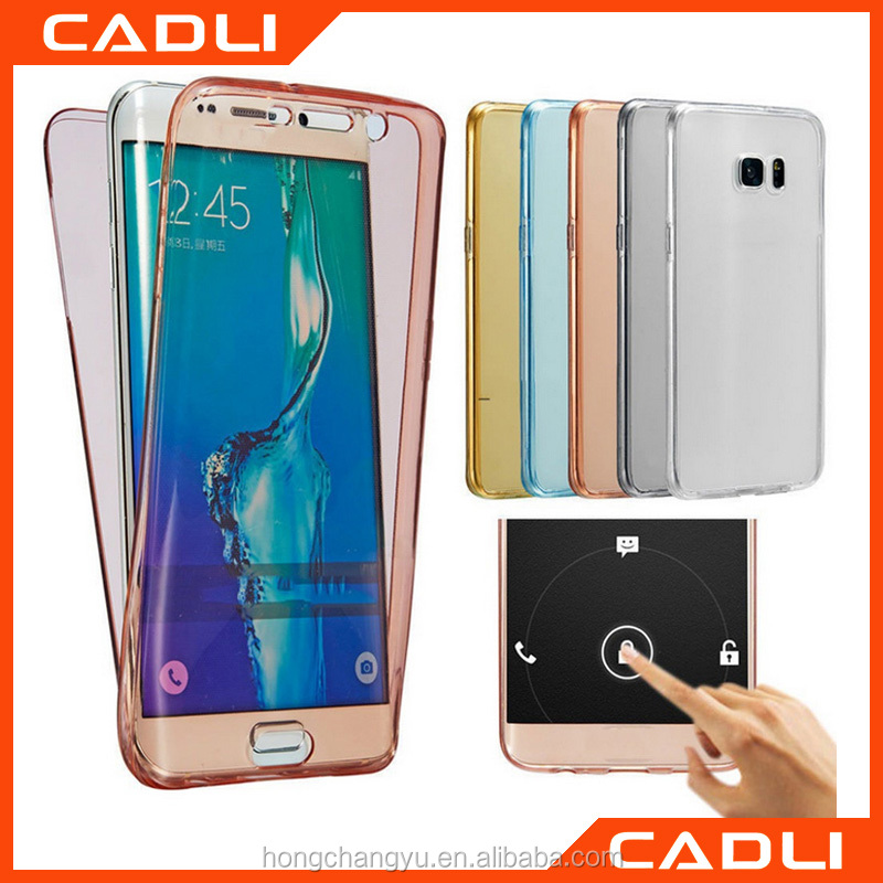 Ultra Thin Clear Soft TPU Front Cover and Back Cover Full Protective Bumper Phone Case For Samsung Galaxy Note 7