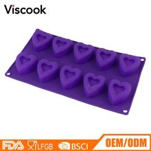 Molde De Low Price Heart Shape Silicone Formas De Chocolate Molds