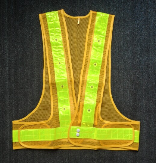 Reflective Led Lighted Flashing Police Safety Vest EN471 High Visibility