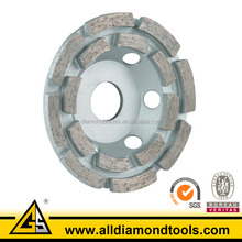 Weld Segmented Diamond Turbo Double Row Cup Wheels for Grinding Concrete