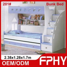 Factory Supply FPHY Modern Children Bedroom furniture MDF Wood convertable bunk bed