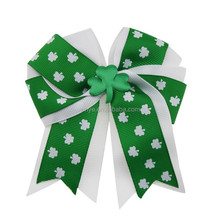 St. Patrick's Day Custom Design Girls Ribbon Tails Down Hair Bow