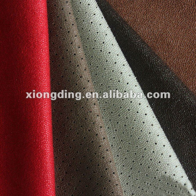 100%polyester punched warp suede fabric for covering sofa
