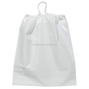LDPE recyclable laundry bag plastic bags with drawstring, printing hotel laundry bag