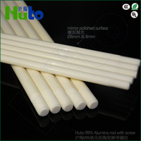 HUTO Brand used for graphite boat 99% Alumina ceramic rod screw thread