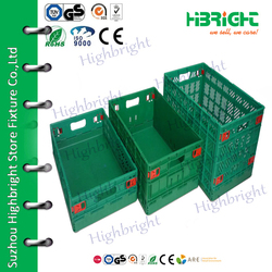 various sizes stackable plastic moving crate sale