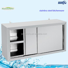 S/S Cabinet Commercial Kitchen Cabinet Stainless Steel Kitchen Wall Hanging Cabinet With Sliding door