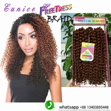 freetress braids crochet hair synthetic freetress hair 100% premium soft crochet savanna jerry curl 3x braids deep wave hair