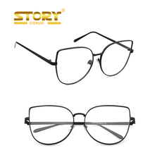 Story wholesale small MOQ cateye eyewear optical frame price eyeglasses