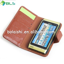 Right open wallet card waterproof mobile phone case for nokia n8