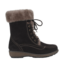 Furry Russian Female Suede Warm Non-slip Winter Snow Boots for Ladies