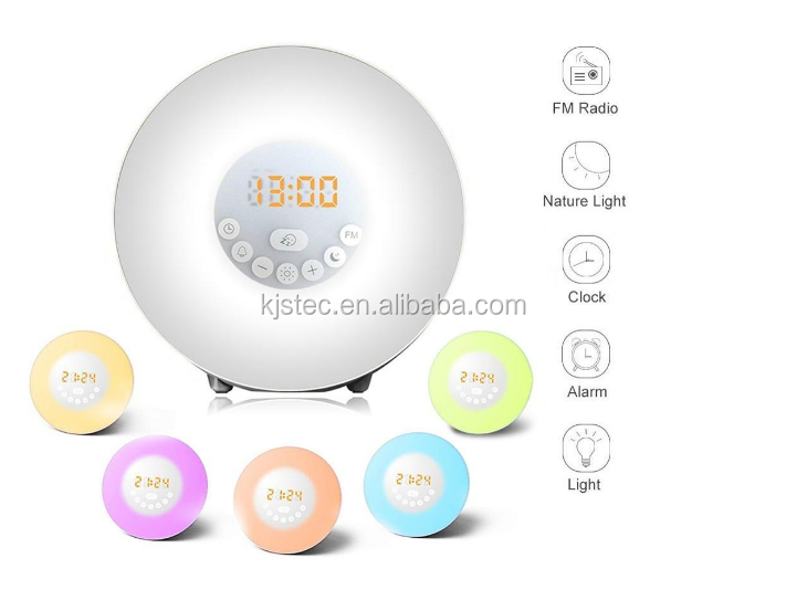 sunrise simulation snooze light alarm clock wake up light alarm clock