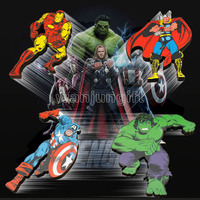 Marvel superhero fridge magnet The Avengers Iron man spider-man captain America hulk thor