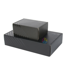 cardboard corrugated matte black shoe box
