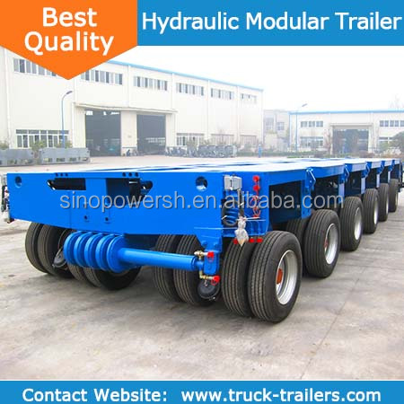China Goldhofer multi- axle hydraulic truck trailer for sale