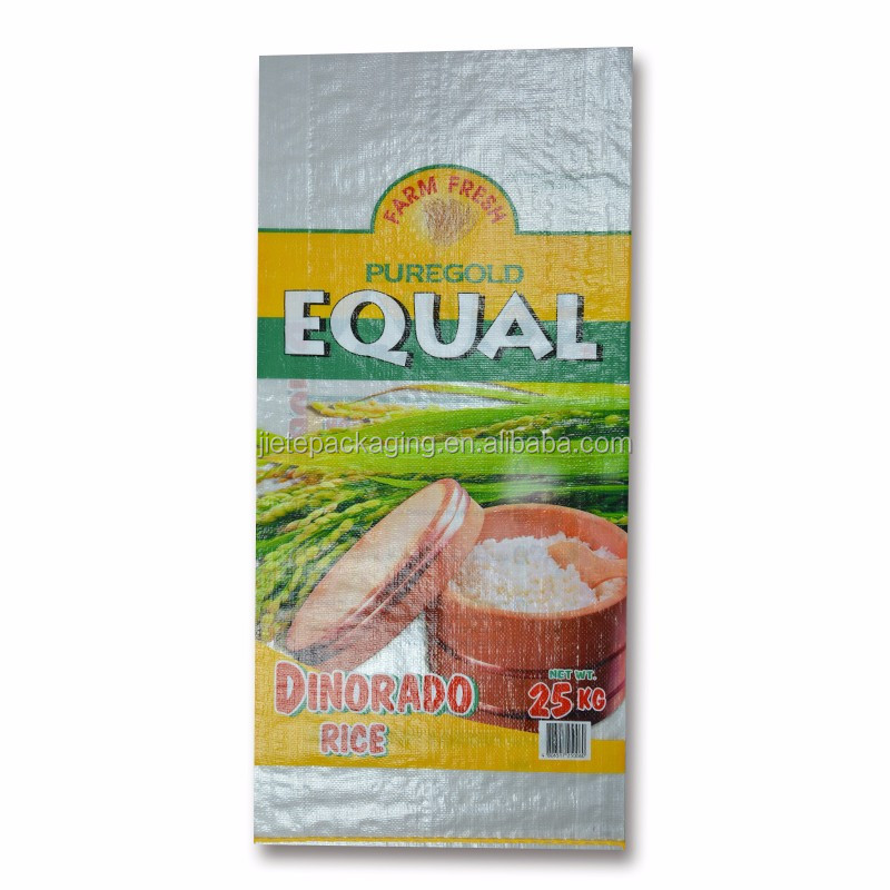 Eco Friendly custom photo printing plastic polypropylene pp woven bags for packing rice