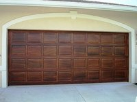 Solid Meranti Garage Doors