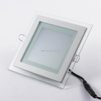 factory wholesale SMD5730 12W square glass led panel light with CE ROHS