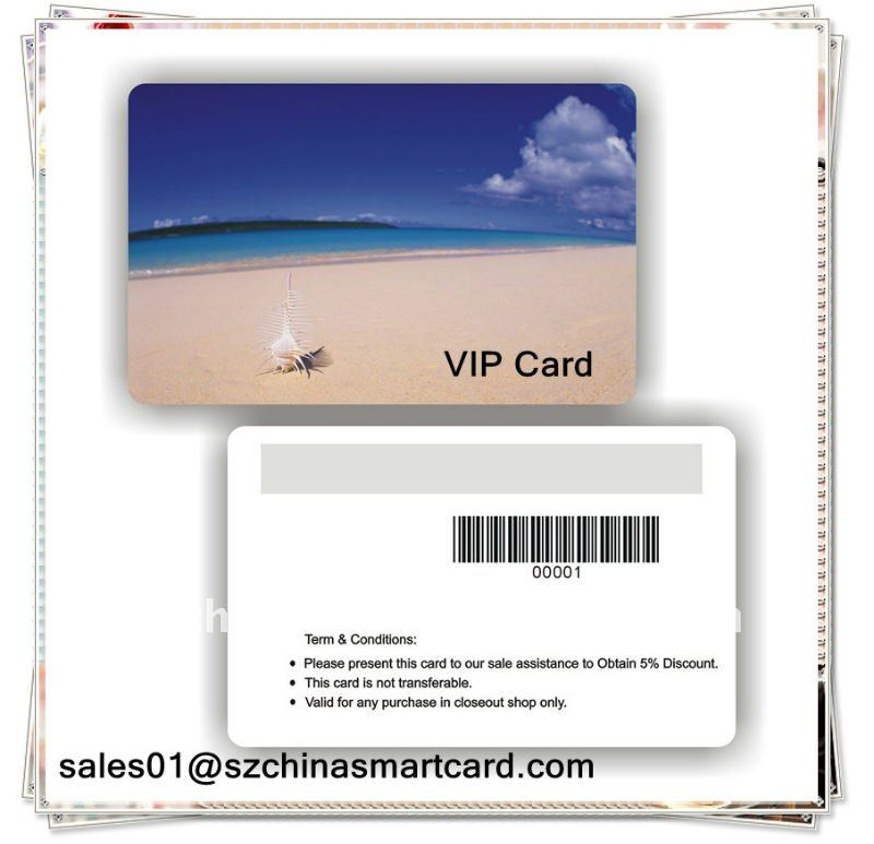 Plastic PVC Lamination Restaurant VIP Card Super Market Membership Card