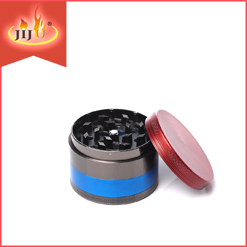 JL-015JA Yiwu Jiju Classic Design Large Size four Pieces Zinc-Alloy CNC Wholesale Tobacco Grinder