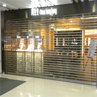 Electric operation transparent roller shutter