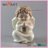 Hand Made Lovely Pray White Porcelain Angel Figurine