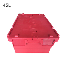 red plastic nestable crates